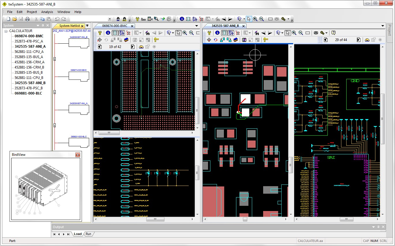 Quadview Aster Technologies Electronic Circuit Drawing Software Circuits Pic Each Combining The Bom Schematic Diagram And Cad Layout